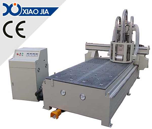 CNC Router With 4 Spindles for Wood Door Making XJ-1325